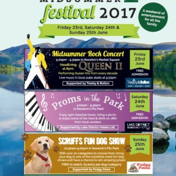 Poster advertising Keswick Midsummer Festival 2017